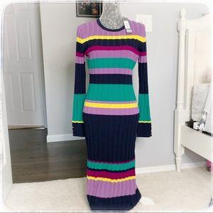 Lela rose striped sweater dress